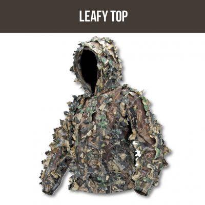 SNIPER 3D, MENS ZIP LEAFY HOODED TOP