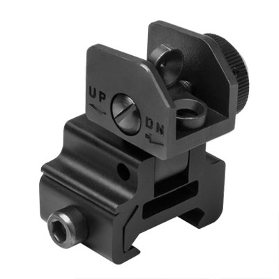 NC STAR MARFLR AR15 FLIP-UP REAR SIGHT