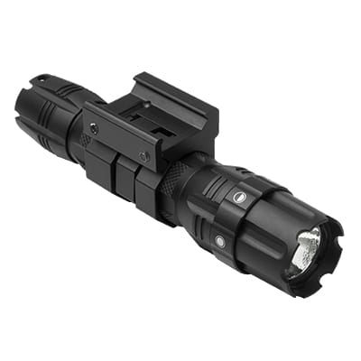 NC STAR VATFLBGM PROSERIES GREEN LED HUNTER FLASHLIGHT & MOUNT