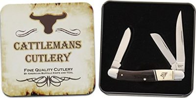 CATTLEMANS CUTLERY BRONCO SERIES STOCKMAN KNIFE CC0001BST 01