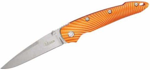 Kizer Cutlery Ki4419A1 Sliver Folding Knife Stonewashed Blade Orange Aluminum Handles