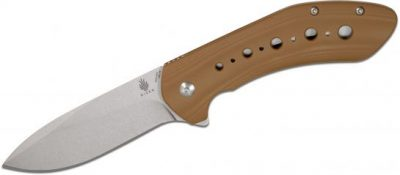 Kizer Cutlery Vanguard V4479A2 Scot Matsuoka KalaDrop Point Blade Coyote Brown G10 Handles Knife